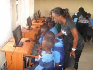Computer training for rural kids in Igbodu village, Epe, 2012