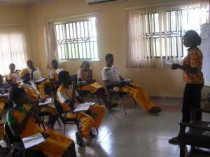 Etiquette Classes for secondary school students in Igbodu village, Epe, 2012